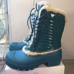 Original Genuine Shearling & Leather Lace-Up Boots